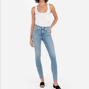 Express Ankle High Rise Skinny Jeans